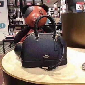 Coach Mini Sierra Leather Satchel in Black F27591